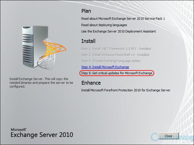 Cài Đặt Exchange Server 2010 (phần 2)